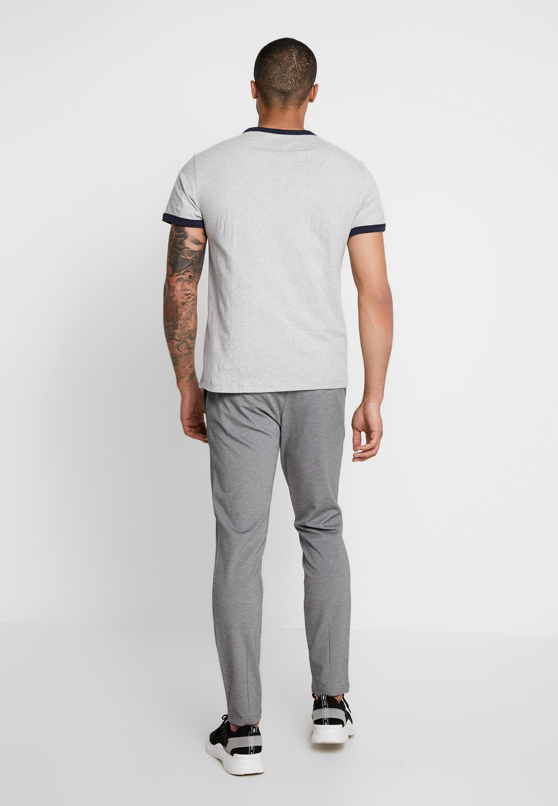Tommy Solid Heather Light Ringer Grey Jeans TeeT shirt Basique 8nw0OPk