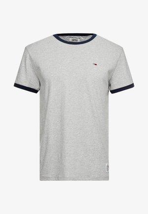 SOLID RINGER TEE - T-shirt imprimé - light grey heather