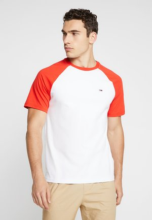 CONTRAST SLEEVE TEE - T-shirt con stampa - white/red