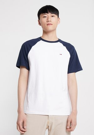 CONTRAST SLEEVE TEE - T-shirt con stampa - blue