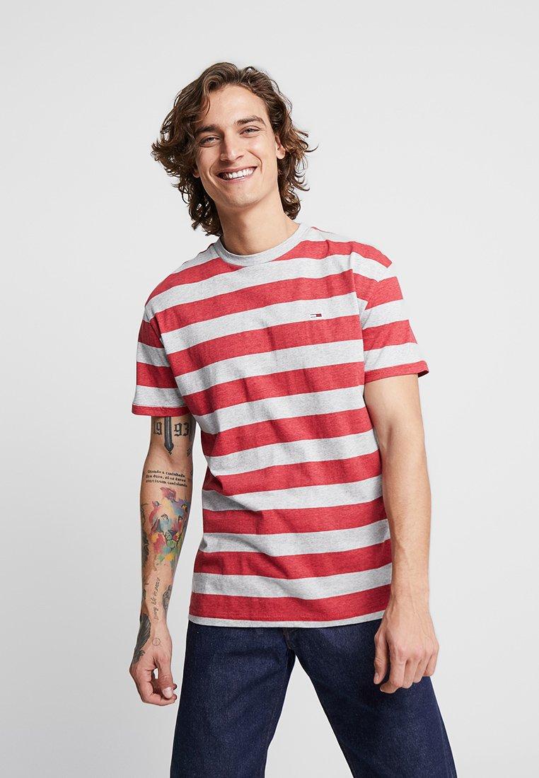 Tommy Red Jeans Stripe Heather Imprimé TeeT shirt doCBxe