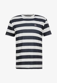 Tommy Jeans - HEATHER STRIPE TEE - Printtipaita - blue - 4