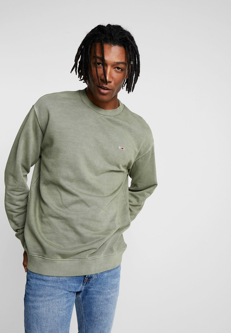 Tommy Jeans - WASHED CREW - Sudadera - green