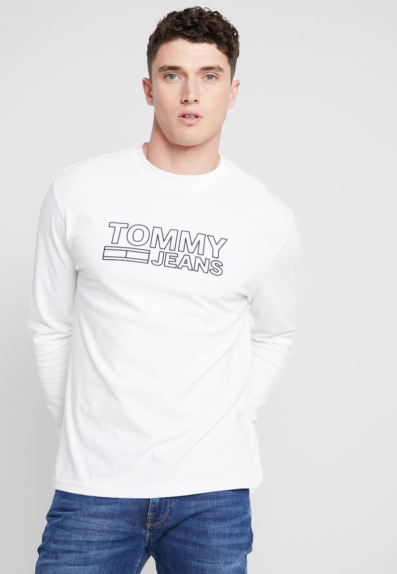 Tommy Jeans - CONTOURED CORP SLEEVE TEE - T-shirt à manches longues - white