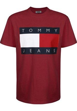 TJM TOMMY FLAG TEE - T-shirt print - burgundy