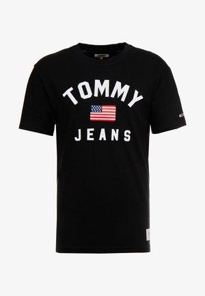 USA FLAG TEE - T-shirt med print - tommy black