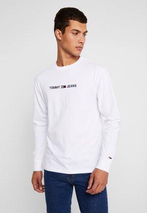 SMALL LOGO TEE - Pitkähihainen paita - classic white