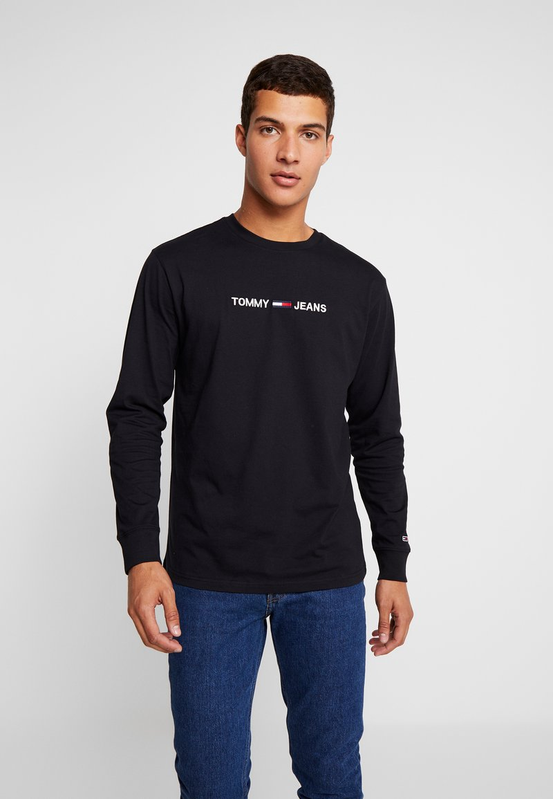 Tommy Jeans - SMALL LOGO TEE - Long sleeved top - tommy black