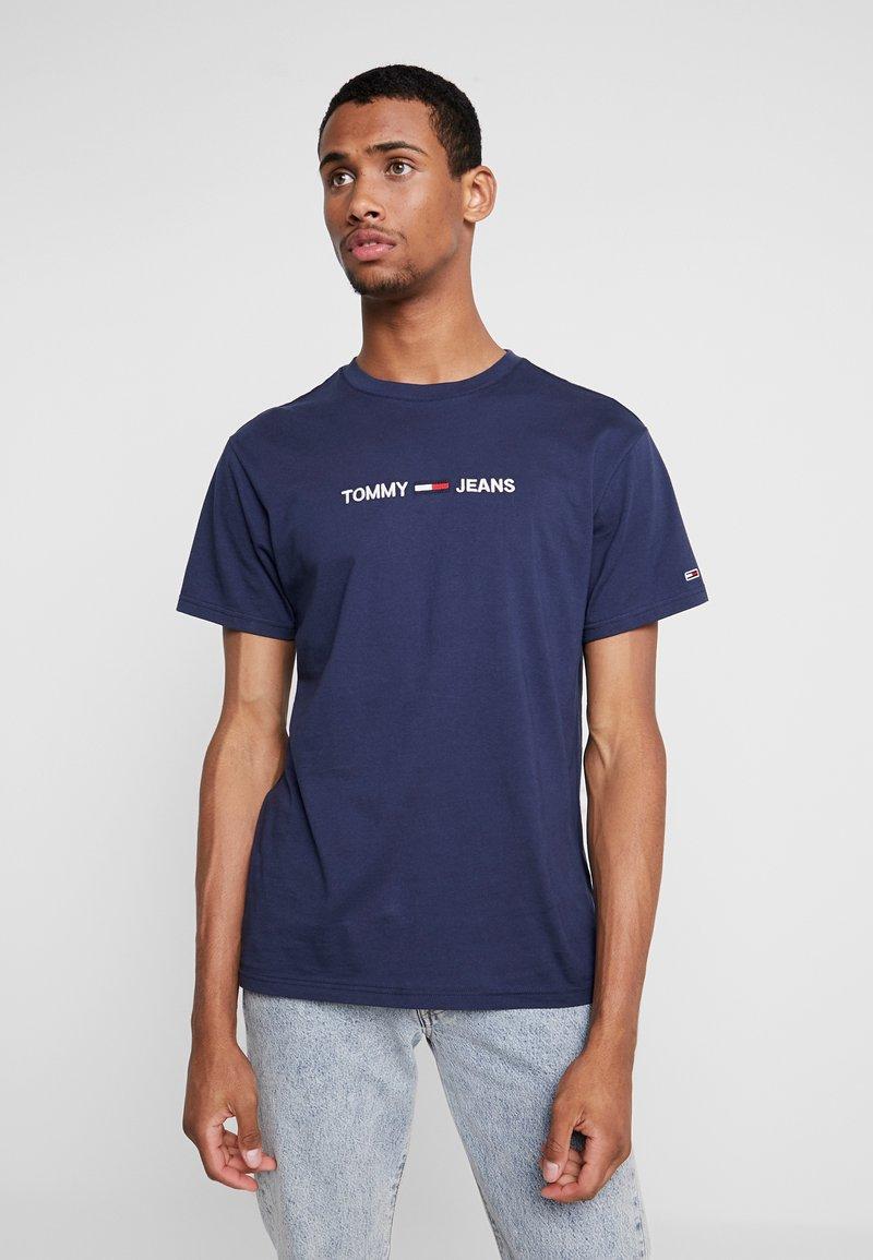 Tommy Jeans - SMALL LOGO TEE - Camiseta estampada - black iris