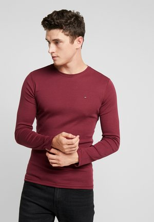 LONG SLEEVE TEE - T-shirt à manches longues - burgundy