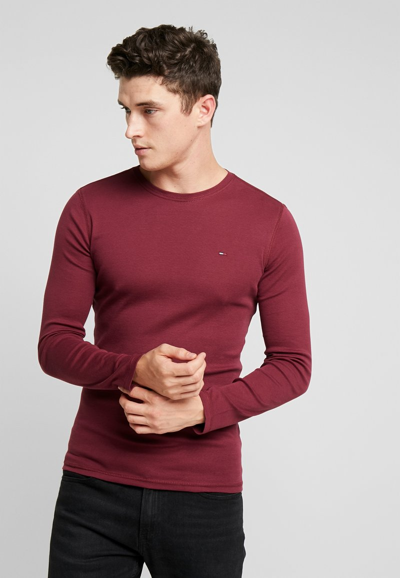 Tommy Jeans - LONG SLEEVE TEE - Longsleeve - burgundy