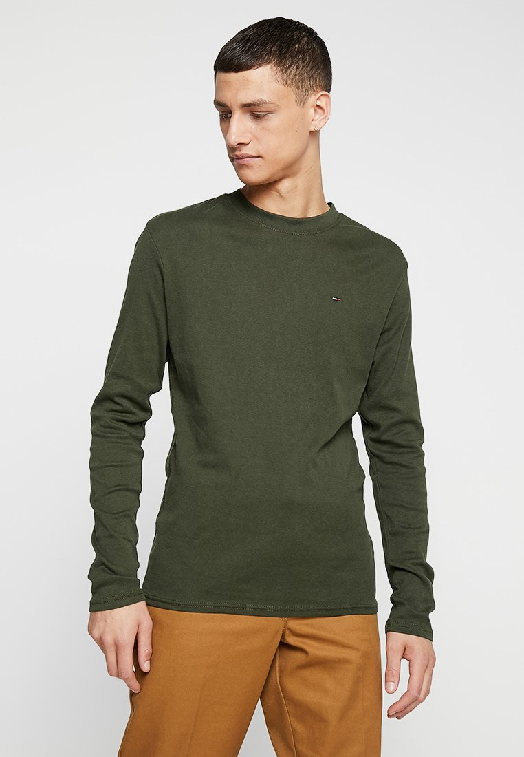 Tommy Jeans - LONG SLEEVE TEE - Long sleeved top - forest night