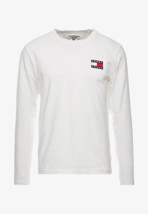 BADGE  - Pitkähihainen paita - classic white