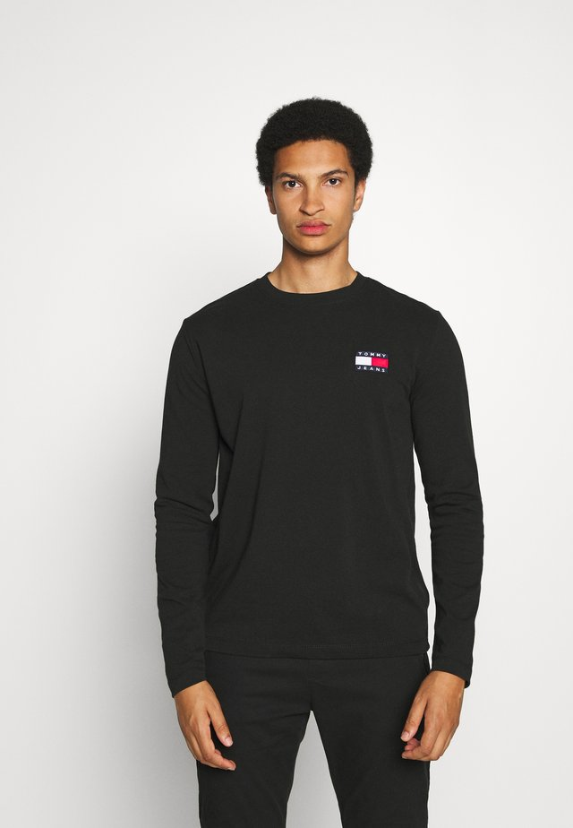 BADGE LONGSLEEVE TEE - Long sleeved top - black
