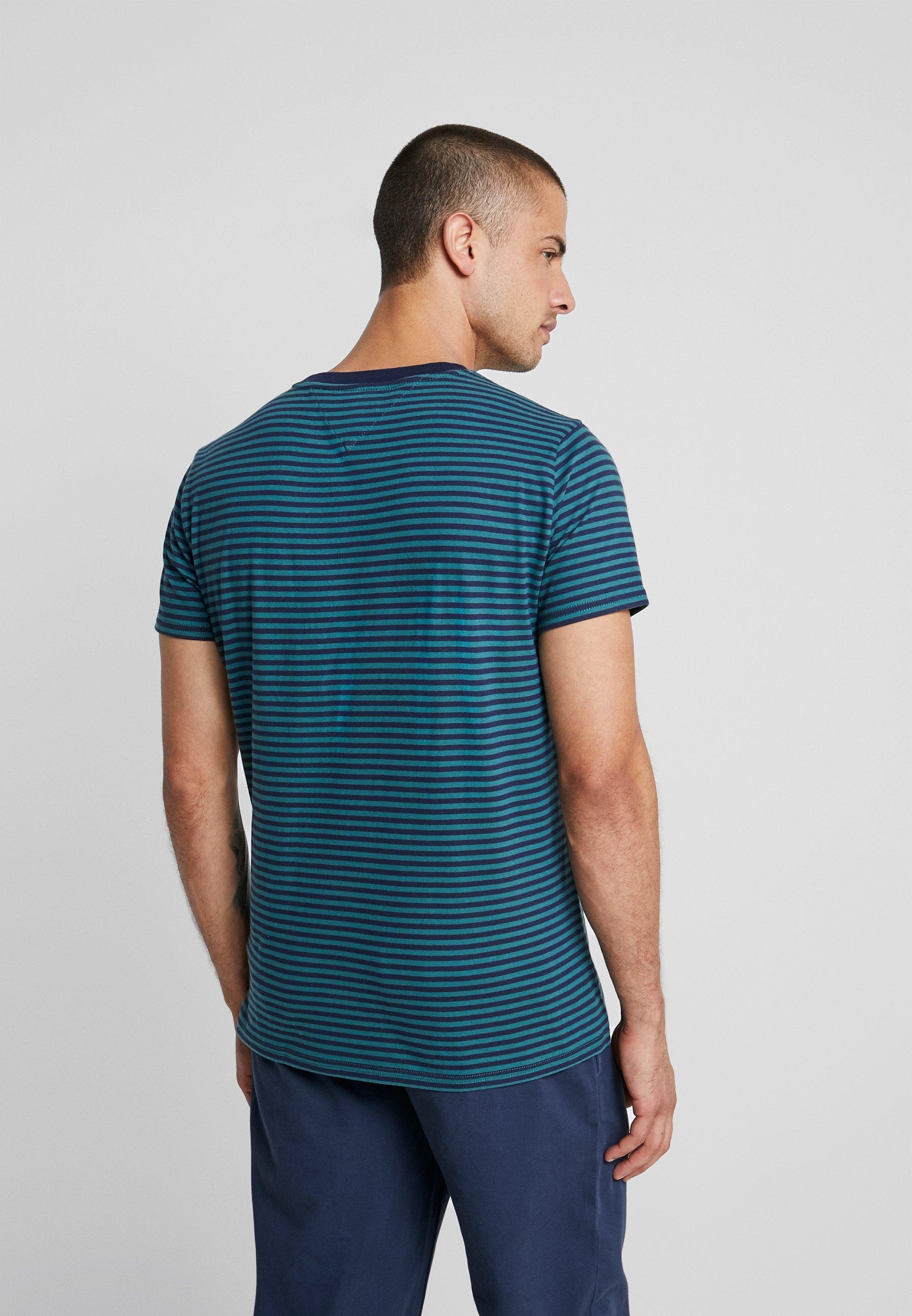 Imprimé Iris shirt Deep Stripe Atlantic black Jeans TeeT Tommy Pocket Y6g7ybf