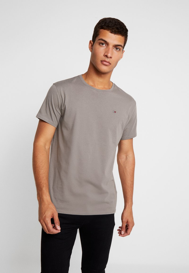 Tommy Jeans - ORIGINAL CREW TEE - Basic T-shirt - charcoal gray