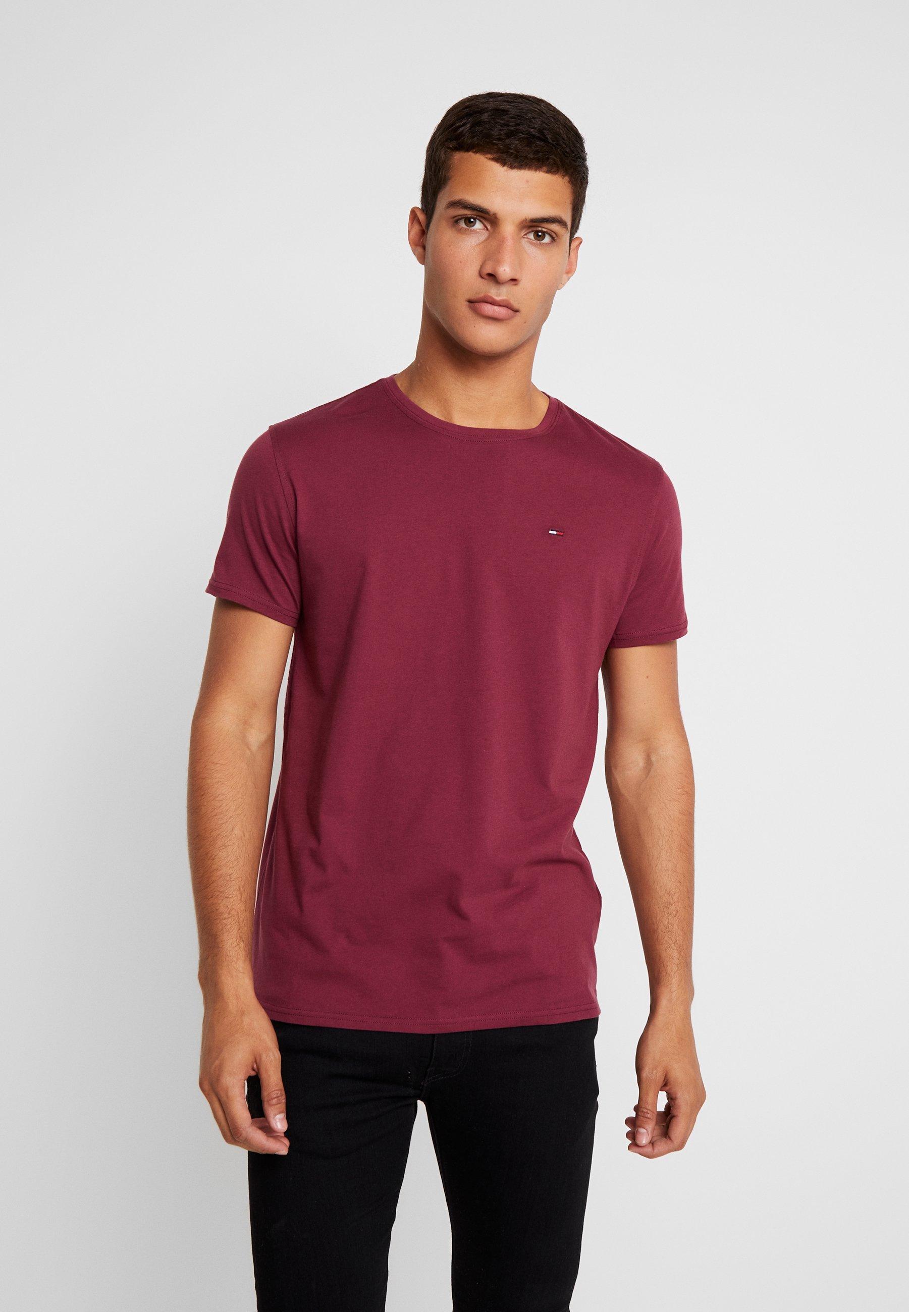 Basique Tommy shirt Burgundy Jeans TeeT Original Crew Fc1lKJ