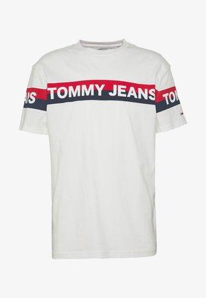 DOUBLE STRIPE LOGO TEE - T-Shirt print - white