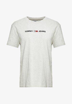 STRAIGHT SMALL LOGO TEE - T-shirt con stampa - light grey heather