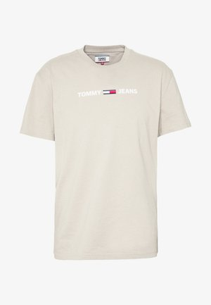 STRAIGHT SMALL LOGO TEE - T-shirt con stampa - stone