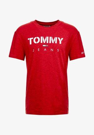 TEXTURED TEE - Print T-shirt - racing red