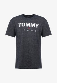 Tommy Jeans - TEXTURED TEE - T-shirts med print - black iris - 3