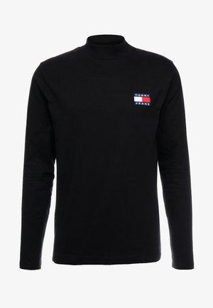 MOCK NECK TEE - Long sleeved top -  black