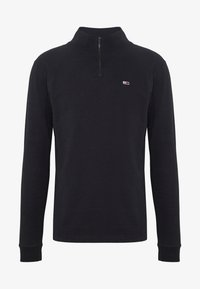 Tommy Jeans - TJM BRUSHED ZIP NECK TEE - Camiseta de manga larga - tommy black - 4
