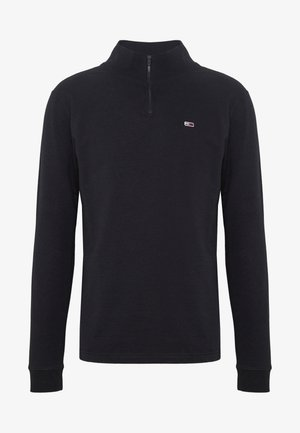 TJM BRUSHED ZIP NECK TEE - Longsleeve - tommy black