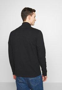 Tommy Jeans - TJM BRUSHED ZIP NECK TEE - Camiseta de manga larga - tommy black - 2