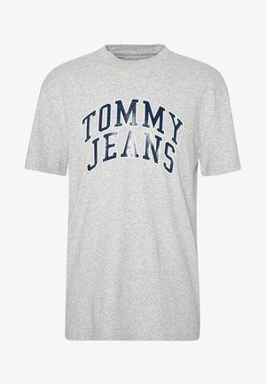 NOVEL VARSITY LOGO TEE - T-Shirt print - light grey heather