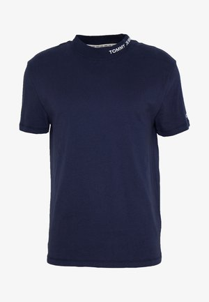 TJM BRANDED HIGH NECK TEE - Camiseta estampada - twilight navy