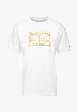 EMBROIDERY LOGO TEE - T-shirts print - white