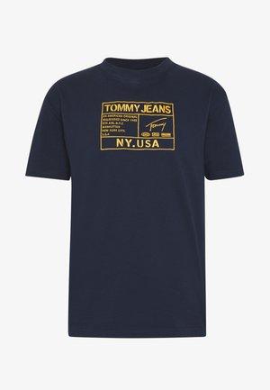EMBROIDERY LOGO TEE - T-shirt z nadrukiem - twilight navy