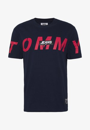TJM BOLD TOMMY LOGO TEE - T-Shirt print - twilight navy
