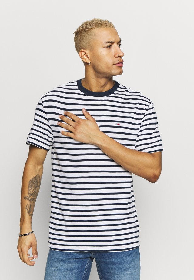 STRIPE TEE - T-shirts print - twilight navy / white