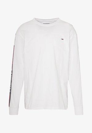 LONGSLEEVE TAPE TEE - Long sleeved top - white