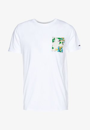 CONTRAST POCKET TEE - T-shirts med print - white/multi