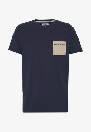 CONTRAST POCKET TEE - Printtipaita - twilight navy