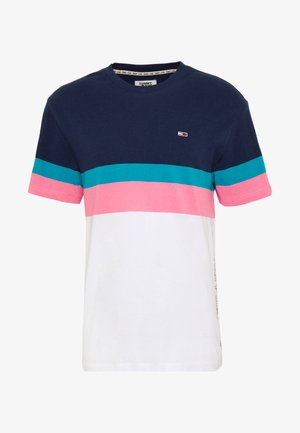 GRAPHIC COLORBLOCK TEE - T-shirt con stampa - twilight navy