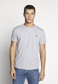 Tommy Jeans - CHEST LOGO TEE - Basic T-shirt - grey - 0