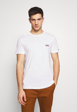 TEXTURE LOGO TEE - T-shirt con stampa - white