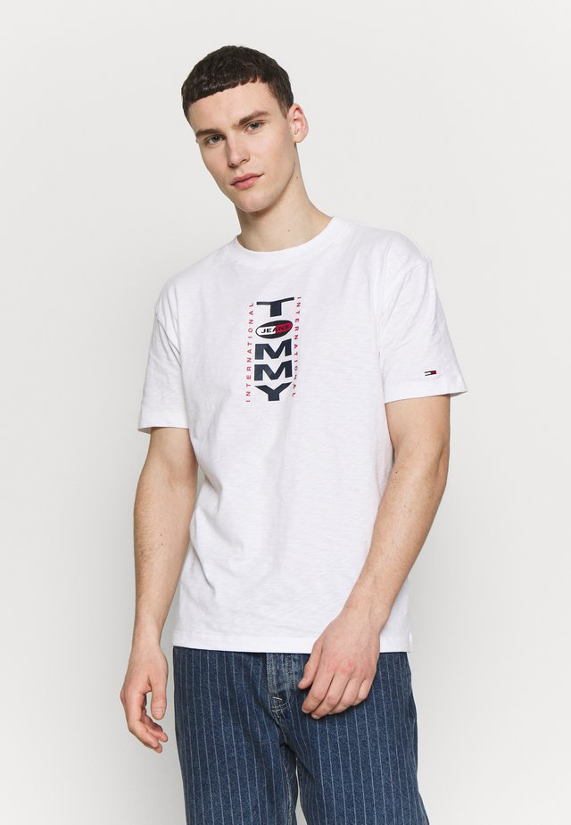 VERTICAL BACK LOGO TEE - T-shirt con stampa - white
