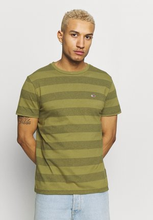 BOLD STRIPE TEE - T-shirt print - uniform olive