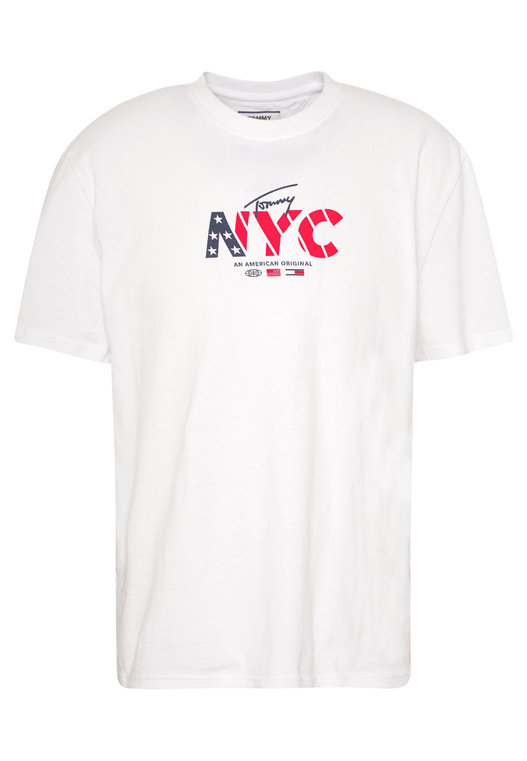 Tommy Jeans Logo Tee - T-shirt Med Print White