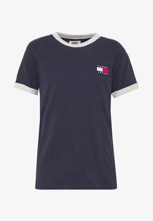 BRANDED RINGER TEE - T-shirts med print - twilight navy/pale grey
