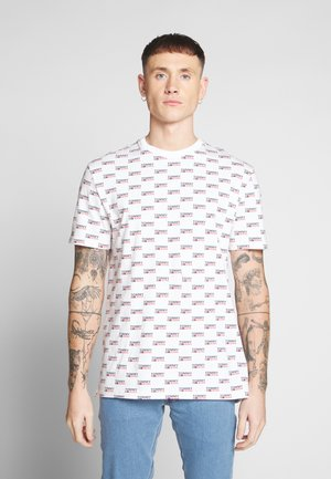 LOGO TEE - Print T-shirt - white/multi
