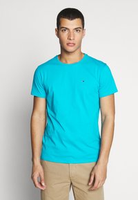 Tommy Jeans - ESSENTIAL SOLID TEE - T-shirt - bas - exotic teal - 0
