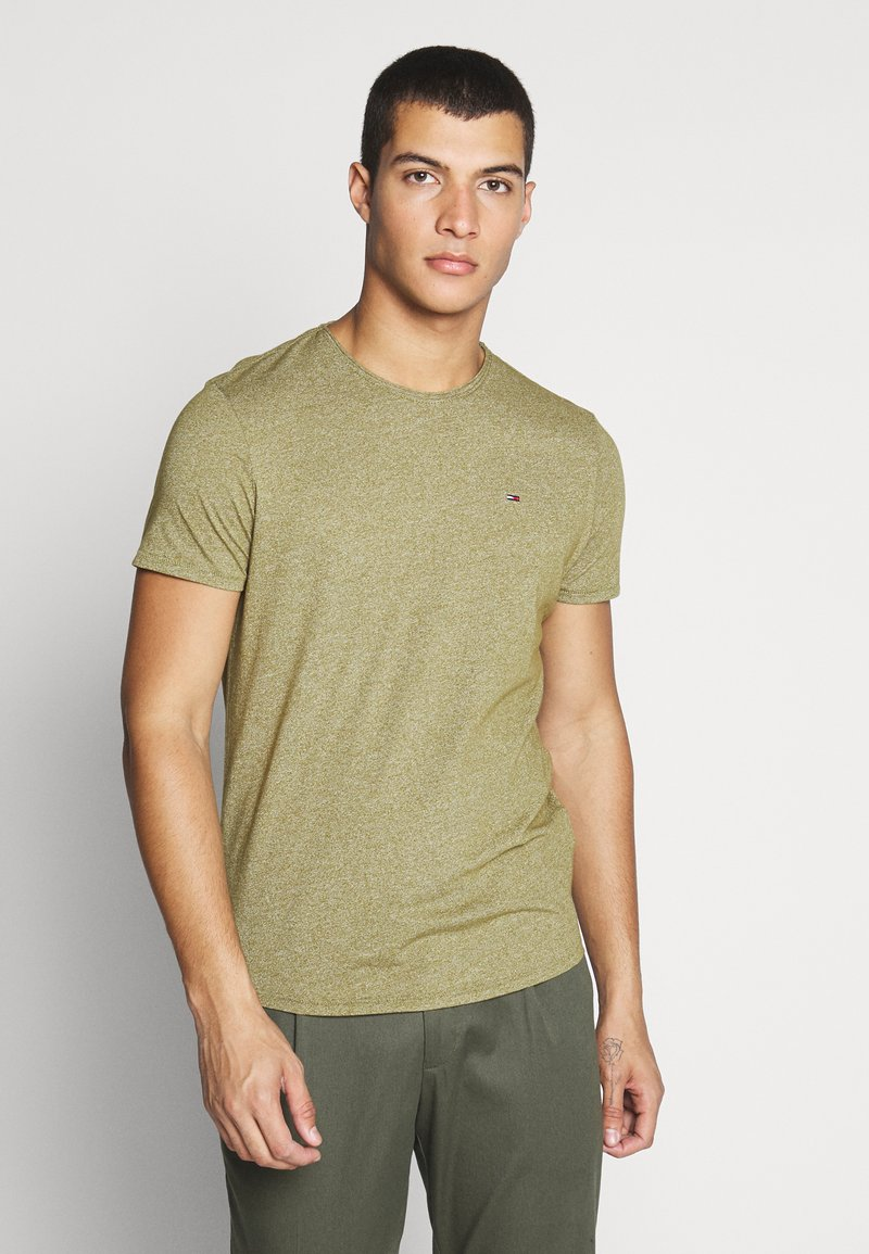 Tommy Jeans - ESSENTIAL JASPE TEE - T-shirts basic - uniform olive