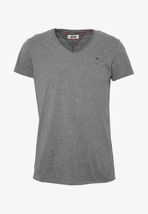 VNECK TEE - T-shirt basic - dark grey